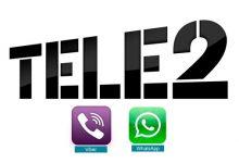 Теле2 WhatsApp Viber бесплатно