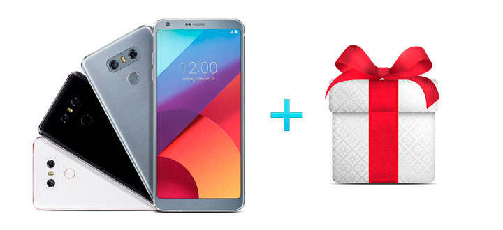купить смартфон LG G6 и получить подарок