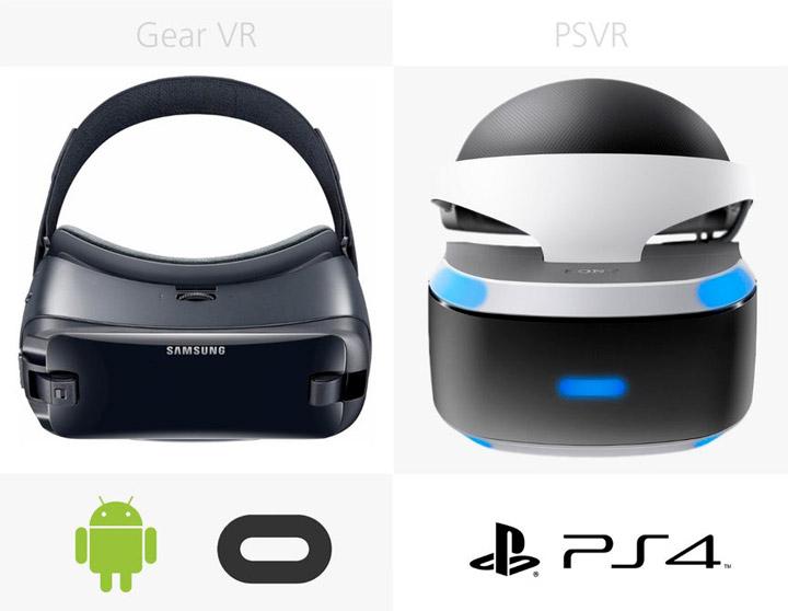 Программное обеспечение Samsung Gear VR (2017) и Sony PlayStation VR
