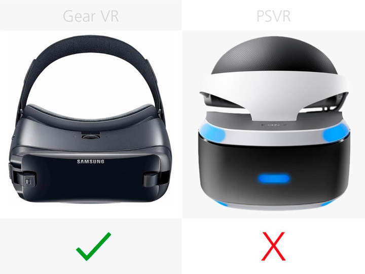 Подклюение Samsung Gear VR (2017) и Sony PlayStation VR
