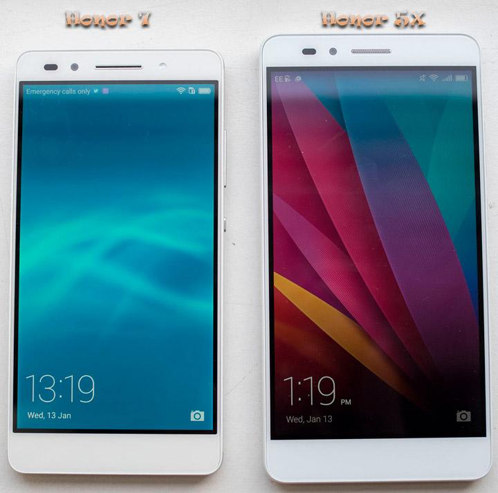 Сравнение смартфонов Honor 5X или Honor 7
