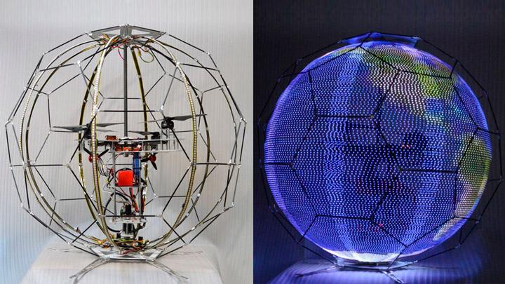 Летающий сферический дисплей