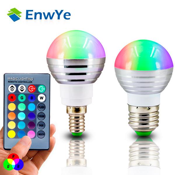 Цветная светодиодная лампа с пультом с aliexpress