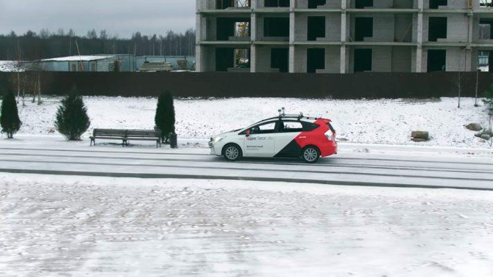 Беспилотник от «Яндекс». Компания протестировала его в условиях зимы. (Видео)