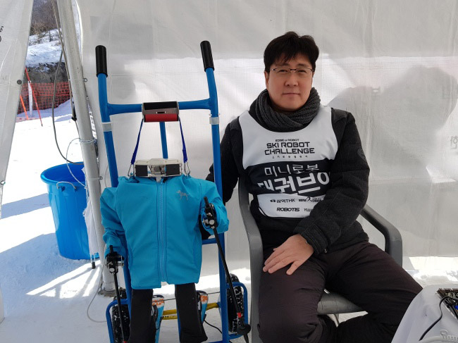 В Пхёнчхане прошли лыжные состязания среди роботов