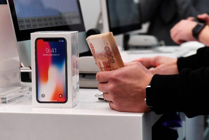 Российские цены на iPhone X «просели» на 20 000 рублей