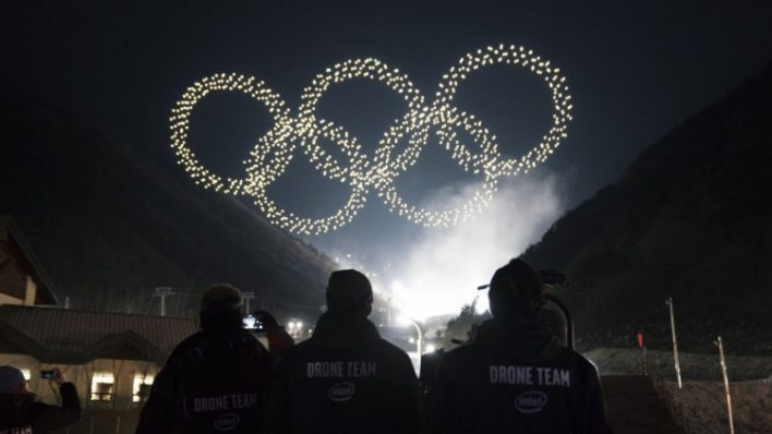 Шоу дронов на Олимпийских играх