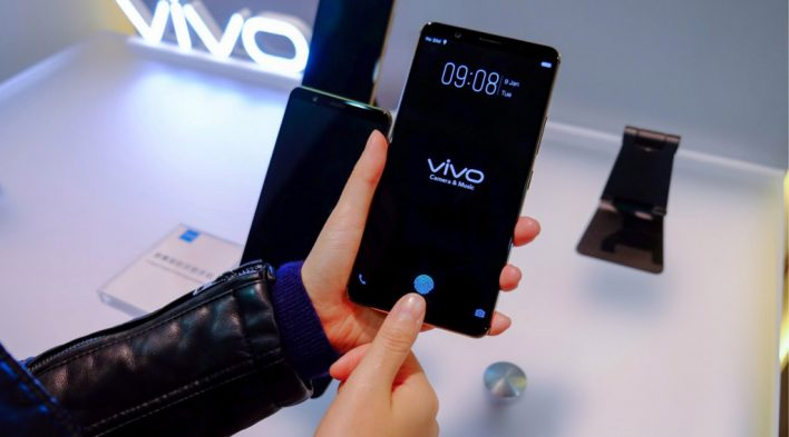 Смартфон Vivo с наэкранным сканером отпечатков поступил в продажу