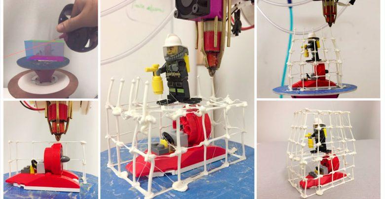 Пока человек рисует, Robotic Modeling Assistant печатает!