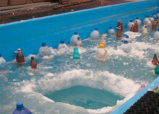 Как зимует каркасный бассейн?